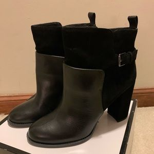 Nine West 'Quinah' leather & suede bootie